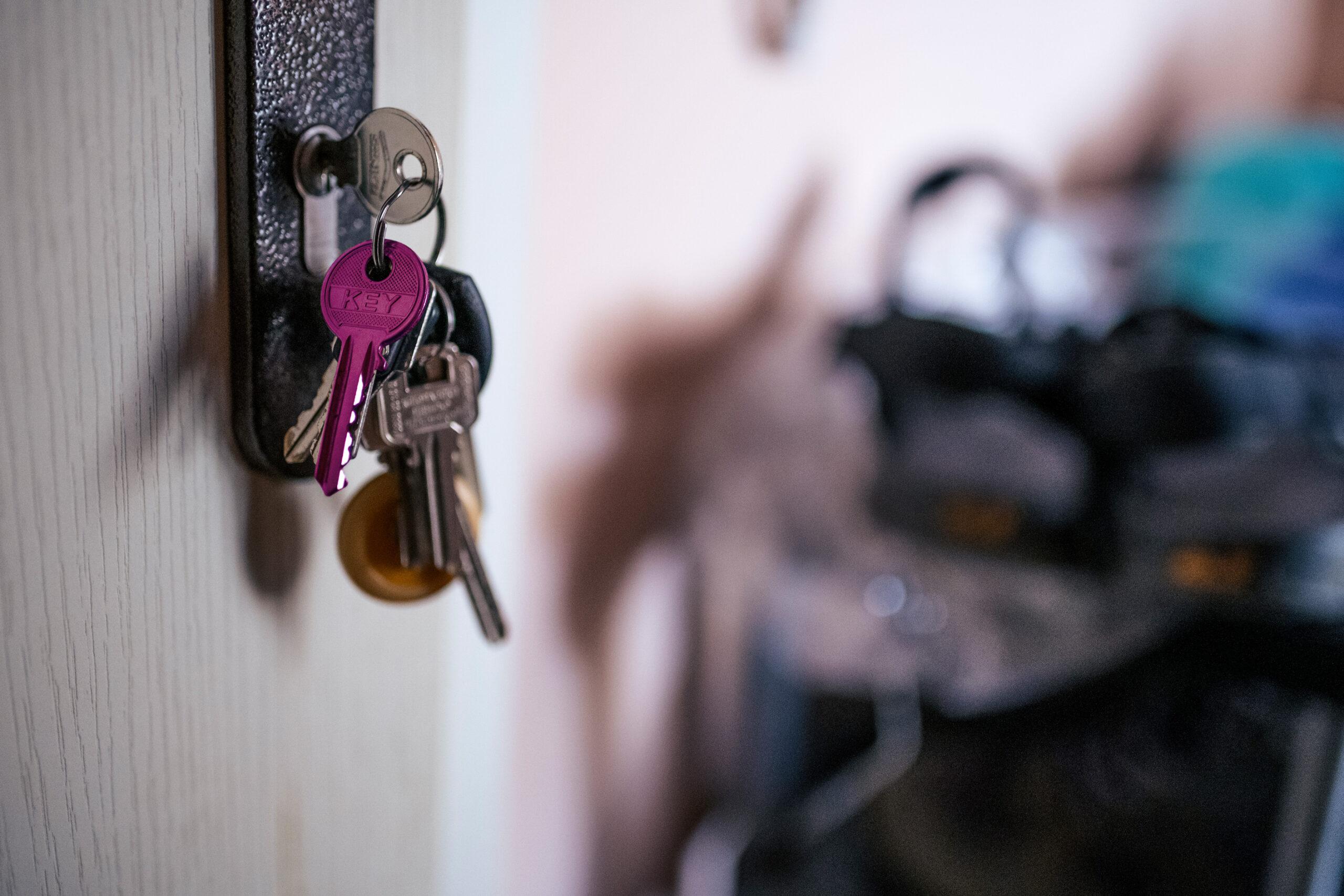 Schlüssel an der Tür